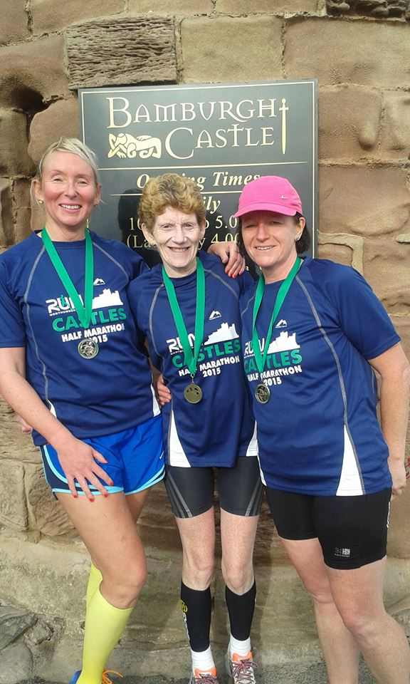 ARC ladies at Castles half marathon