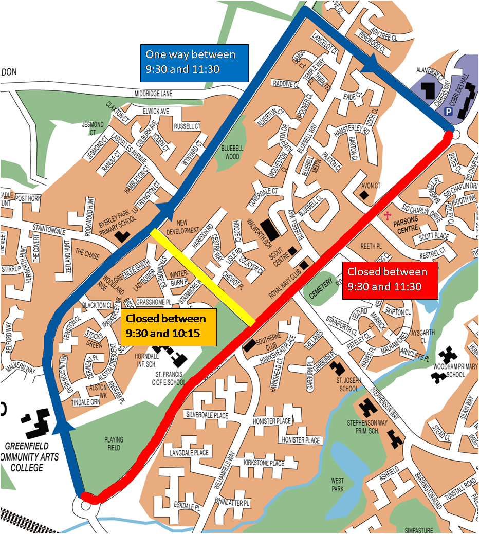 Road Closures Ayclffe 10k Race Day
