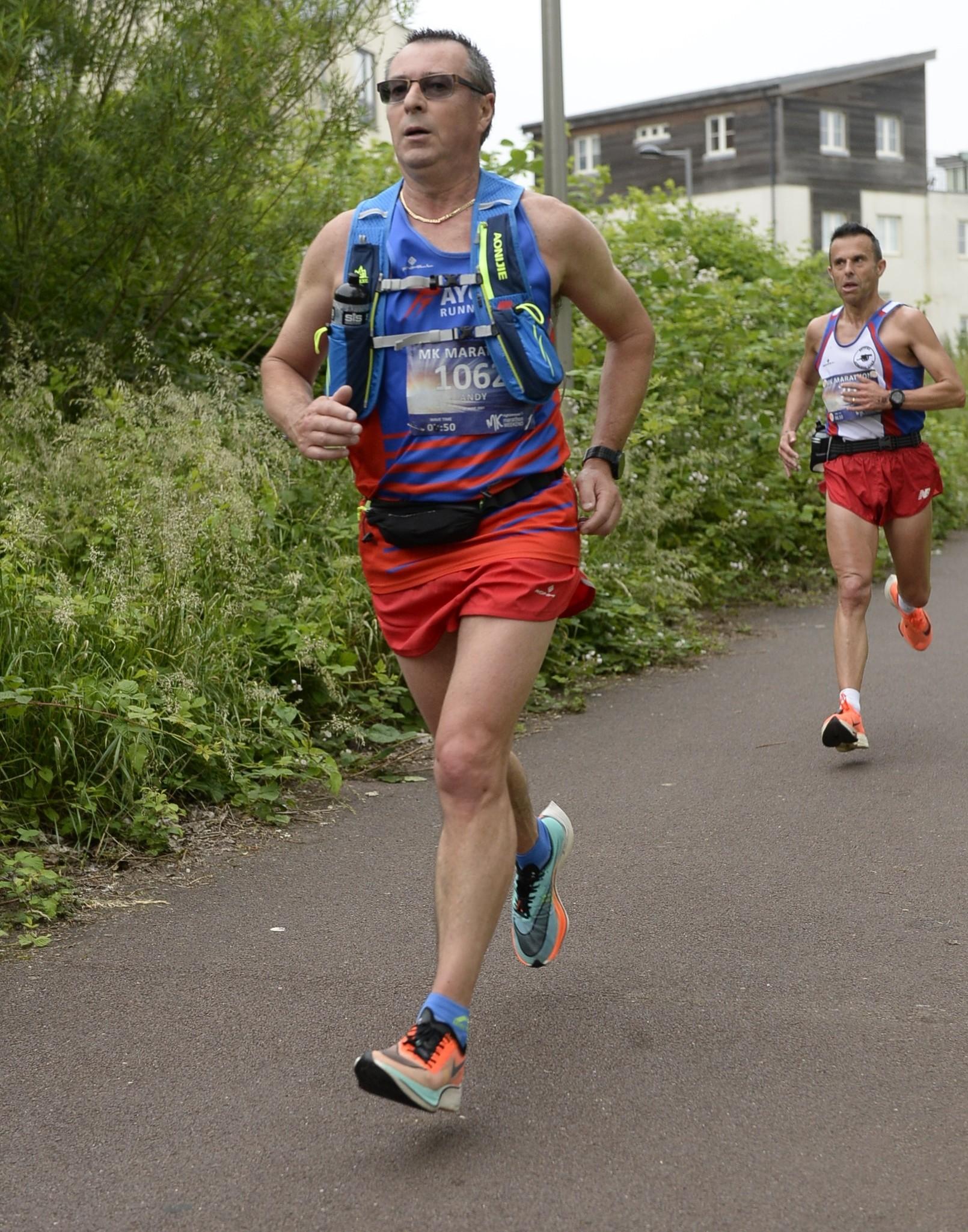 Andy TALBOT on his way to England Masters Marathon Team qualification at the Milton Keynes Marathon