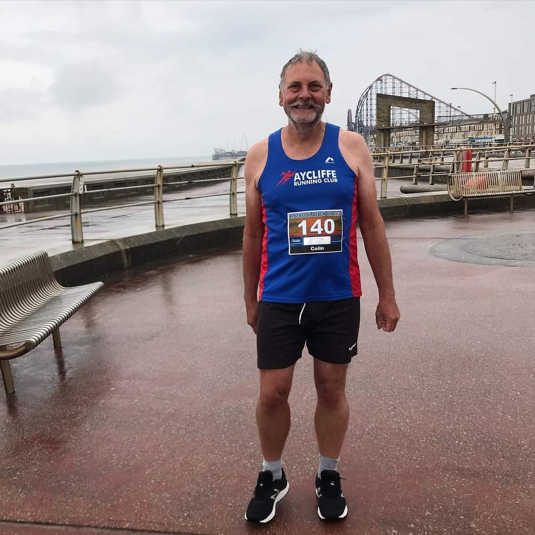 Colin GIBSON at the Blackpool Beach 10K