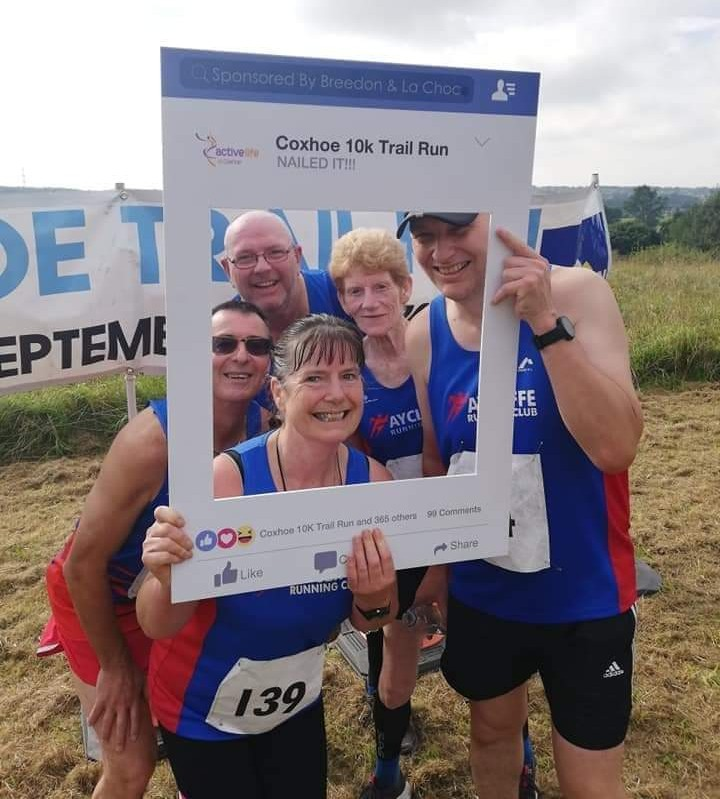 Aycliffe RC at the Coxhoe Trail Race